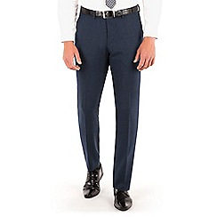 Ben Sherman - Ben Sherman Deep blue textured plain front super slim fit camden suit trouser