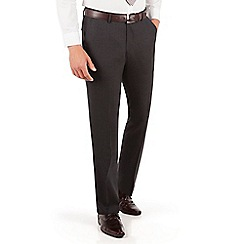 Ben Sherman - Ben Sherman Oatmeal brown textured plain front super slim fit camden suit trouser