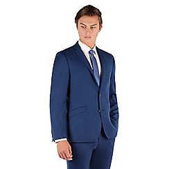 Ben Sherman - Bright blue flannel 2 button front super slim fit camden suit