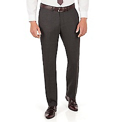 Ben Sherman - Ben Sherman Charcoal tonal jaspe check plain front super slim fit camden suit trouser