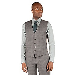 Racing Green - Racing Green Grey with oatmeal overcheck waistcoat