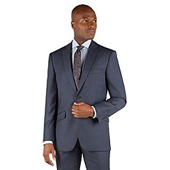 Racing Green - Blue birdseye tailored fit 2 button suit jacket