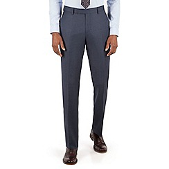 Racing Green - Blue birdseye tailored fit suit trouser