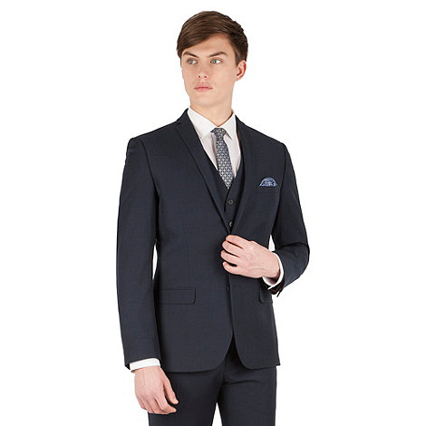 Red Herring - Navy twill 2 button slim fit suit