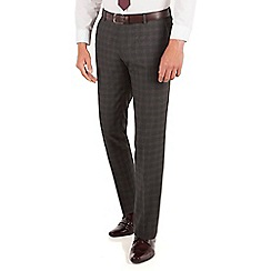 Red Herring - Red Herring Charcoal check slim fit trouser