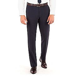 Red Herring - Red Herring Navy tonal check slim fit trouser