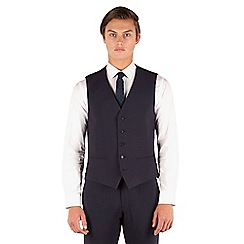 Red Herring - Red Herring Navy tonal check slim fit 5 button waistcoat