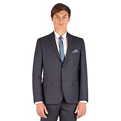 Red Herring - Grey jaspe check slim fit 2 button suit jacket