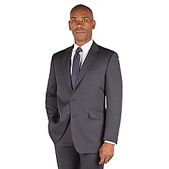 Centaur Big & Tall - Navy narrow stripe big and tall 2 button front regular fit suit jacket.