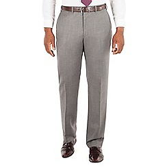 Centaur Big & Tall - Centaur Big & Tall Grey textured semi plain big and tall suit trouser