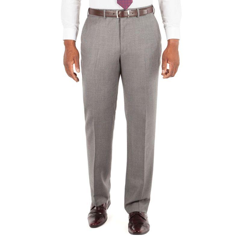 Centaur Big and Tall Grey Textured Semi Plain Suit Trouser,