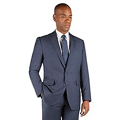 Centaur Big & Tall - Centaur Big & Tall Blue tonal check big and tall 2 button front regular fit suit jacket