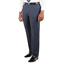Centaur Big & Tall - Centaur Big & Tall Blue tonal check big and tall suit trouser