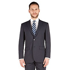 Karl Jackson - Navy stripe 2 button front regular fit washable suit