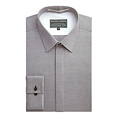 Racing Green - Letter Tailored Fit Semi Plain Formal Shirt
