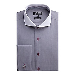 Stvdio by Jeff Banks - Stvdio by Jeff Banks Grey Hairline Stripe Shirt