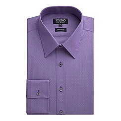 Stvdio by Jeff Banks - Stvdio by Jeff Banks Purple Dobby Stripe Shirt