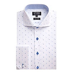 Stvdio by Jeff Banks - Stvdio by Jeff Banks White Dot Jacquard Shirt