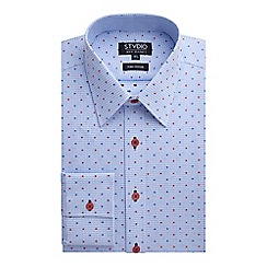 Stvdio by Jeff Banks - Blue Check Dobby Shirt