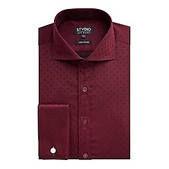 Stvdio by Jeff Banks - Stvdio by Jeff Banks Wine Square Jacquard Shirt