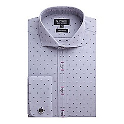 Stvdio by Jeff Banks - Grey Check Dobby Shirt