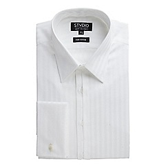 Stvdio by Jeff Banks - Stvdio by Jeff Banks White Sateen Stripe Shirt