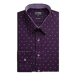 Stvdio by Jeff Banks - Stvdio by Jeff Banks Purple Flower Print Shirt