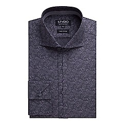 Stvdio by Jeff Banks - Grey Swirl Jacquard Shirt