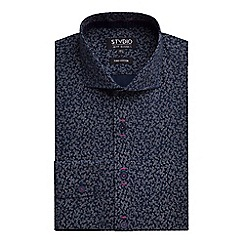 Stvdio by Jeff Banks - Stvdio by Jeff Banks Navy Scatter Print Shirt