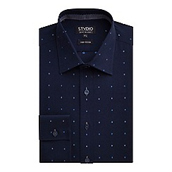 Stvdio by Jeff Banks - Stvdio by Jeff Banks Navy Shadow Dot Shirt