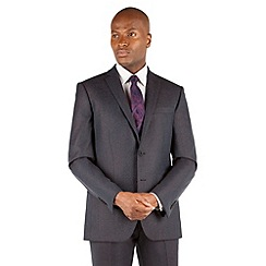 Stvdio by Jeff Banks - Blue grey flannel 2 button front tailored fit suit