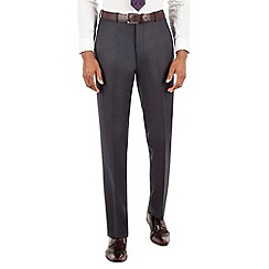 Stvdio by Jeff Banks - Stvdio by Jeff Banks Stvdio by Jeff Banks Blue grey flannel plain front tailored fit suit trouser