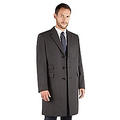 Karl Jackson - Karl Jackson Charcoal melton regular fit overcoat