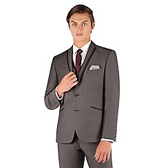 Red Herring - Red Herring Mid grey pindot slim fit 2 button front