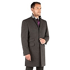 Stvdio by Jeff Banks - Stvdio by Jeff Banks Charcoal Herringbone Overcoat