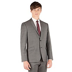 J by Jasper Conran - Charcoal pindot 2 button front slim fit business suit jacket