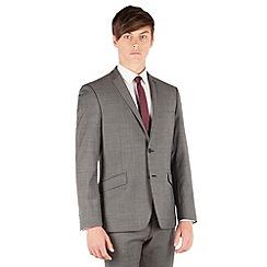 J by Jasper Conran - Charcoal pindot 2 button front slim fit business suit