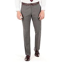 J by Jasper Conran - Charcoal pindot flat front slim fit business suit trouser