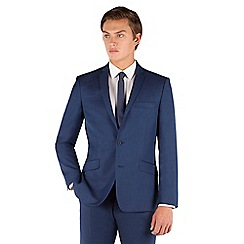 J by Jasper Conran - J by Jasper Conran Blue plain 2 button front slim fit occasions suit jacket