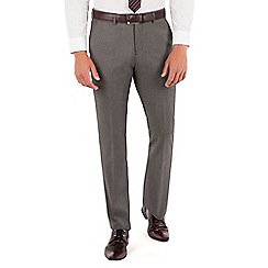 J by Jasper Conran - J by Jasper Conran Grey pindot plain front slim fit fit occasions suit trouser