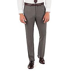 J by Jasper Conran - J by Jasper Conran Grey pindot plain front slim fit fit occasions suit trouser