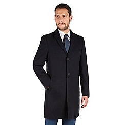 J by Jasper Conran - Navy herringbone tailored fit coat