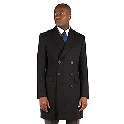 Hammond & Co. by Patrick Grant - Charcoal plain double breasted tailored fit coat