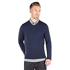 Racing Green - Keats Merino V-Neck Jumper
