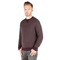 Racing Green - Pembrooke Textured Crew Neck Jumper