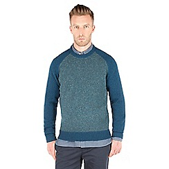 Racing Green - Lion Crew Neck Nep Jumper