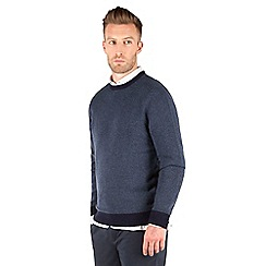 Racing Green - Bexley Contrast Crew Neck Jumper