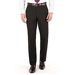 The Collection - Black plain regular fit suit trouser