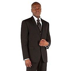 The Collection - Black plain tailored fit 2 button suit jacket