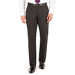 The Collection - Charcoal plain regular fit suit trouser